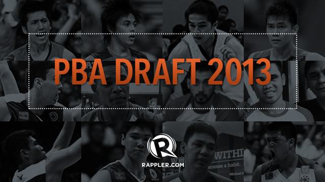 AS IT HAPPENS: PBA Draft 2013