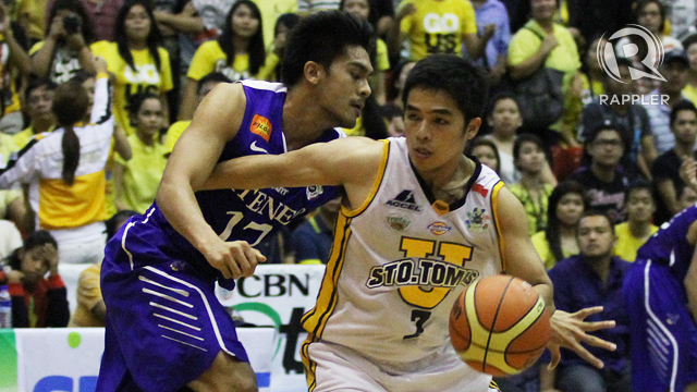 REVENGE. The University of Santo Tomas Growling Tigers defeated the Ateneo de Manila University Blue Eagles for the PCCL Crown on Friday, December 7. Photo by Joshua Albelda.