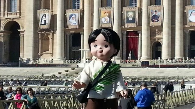 PEDRITO THE DOLL AWAITING Pedro Calungsod's canonization in Vatican City, Italy. According to a report by ABS-CBN (Bandila), Pedrito dolls will be distributed on Oct. 21.
