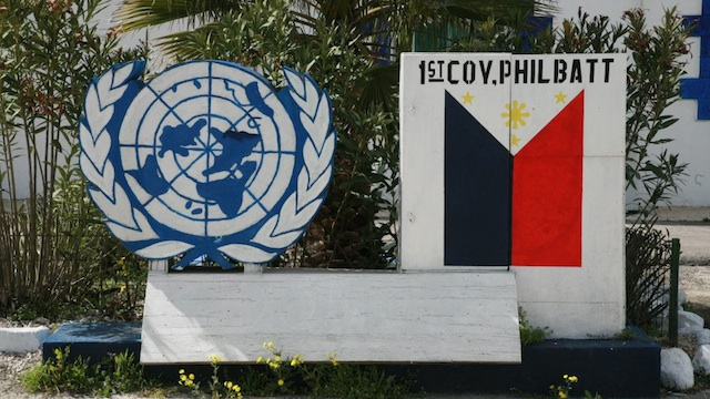 UN PEACEKEEPERS. File photo of a the Philippine detachment of UNDOF in the Golan Heights, Syria courtesy of Elmer Cato