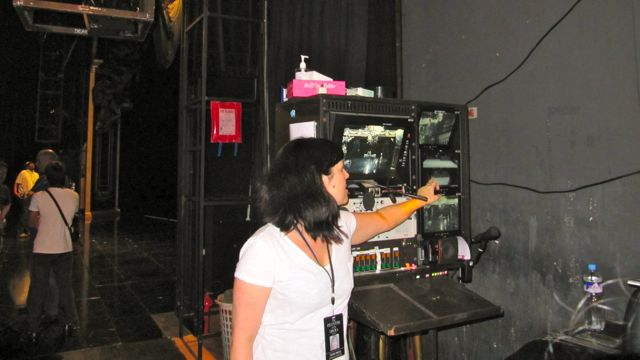 STAGE MANAGER'S CALLING STATION from where the theater space or the entire show is run