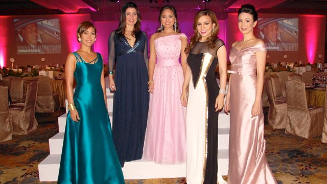 BEAUTY WITH SUBSTANCE. 2012 Best Dressed Women of the Philippines awardees Joteen de Jesus-Jimenez, Ana Amigo-Antonio, Aziza Mondoedo, Grace Barbers Baja and Tootsy Echauz Angara. All photos courtesy of Cristina Gomez