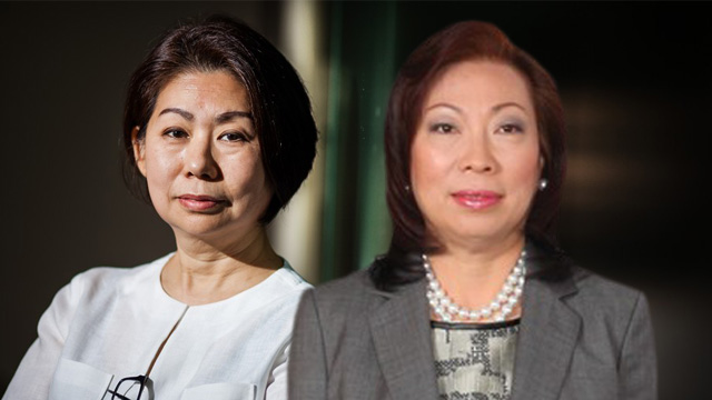 WOMEN IN-CHARGE. SMIC's Teresita Sy-Coson and Filinvest's Lourdes Josephine Gotianun-Yap are among the growing female executives in Philippine business. Photo from Forbes.com