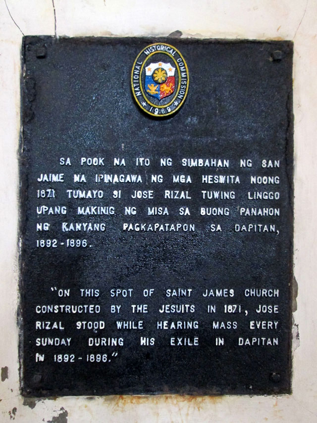 Marker in St. James the Greater Church.