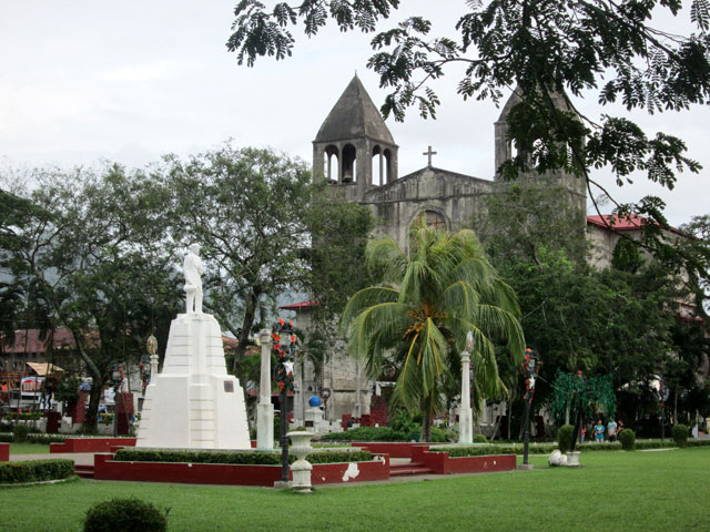 Dapitan plaza, which Dr. Jose P. Rizal designed. At the background is St. James the Greater Church.