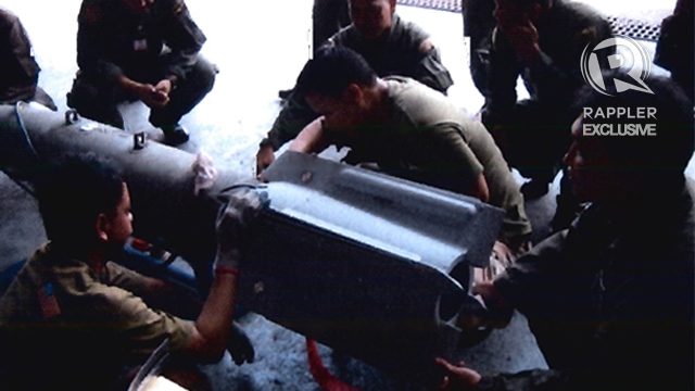 ATTACK. A smart bomb is used against the Abu Sayyaf. Rappler file photo