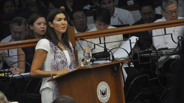 Senator Pia Cayetano defends the RH Bill. Photo from Pia Cayetanos' Facebook Page.