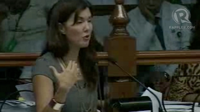 EMOTIONAL SPONSOR. RH bill principal sponsor Pia Cayetano turns emotional as she defends provisions of the RH bill from drastic amendments. Screenshot from Senate livestream