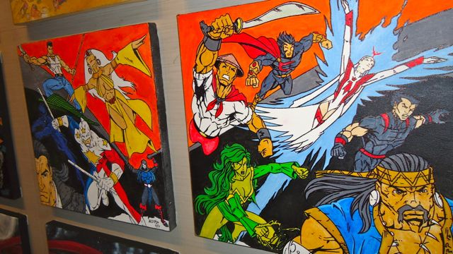 MORE PINOY SUPERHEROES. Artwork at the Comics Arthology Exhibit