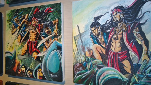 PINOY COMICS, PINOY HEROES. 'Maktan' by Tepai Pascual at the Comics Arthology exhibit. All photos courtesy of Jerald T. Uy