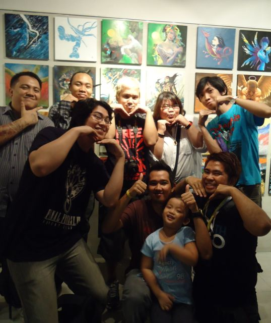 COMICS AFICIONADOS. Members of Indie Komiks Manila