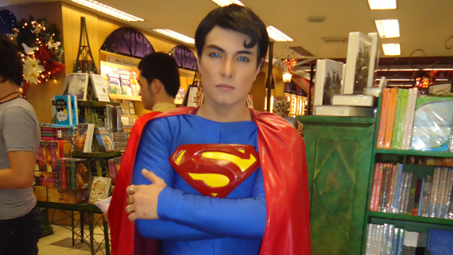 SUPERMAN WHO OWNS SUPERMANS. Herbert Chavez, the 'Pinoy Superman,' is not just a collector but a comic book author, too. All photos by Jerald Uy