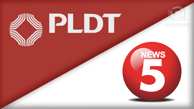 PLDT TO THE RESCUE. The phone giant plans to help the cash-strapped TV network. Graphic by Mich Garcia