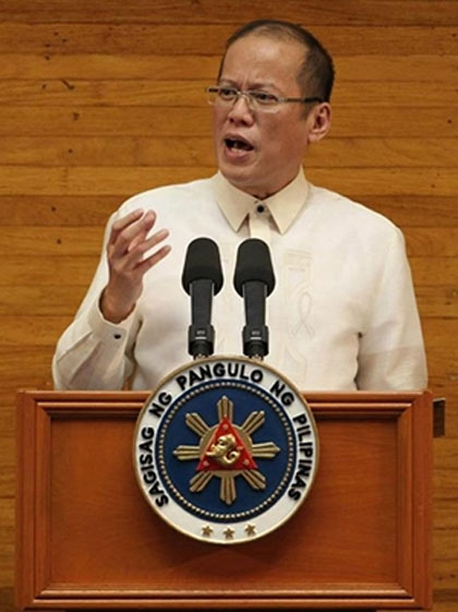 'NO FORGIVE, FORGET.' In his SONA, President Aquino rejected the mentality that alleged anomalies during the Arroyo administration must be forgiven and forgotten. Photo by Malacañang Photo Bureau