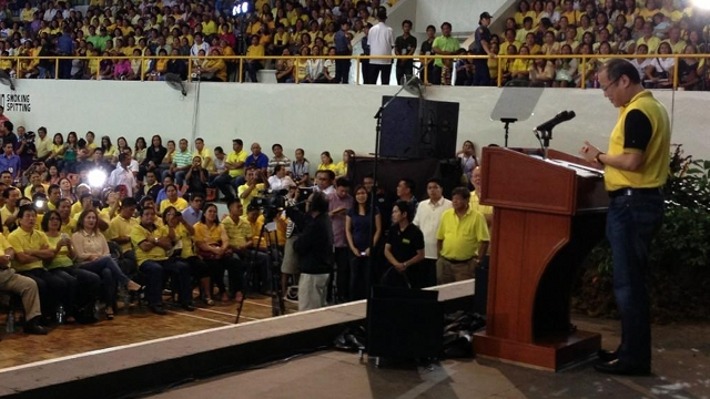 SPIRIT OF LAW. President Aquino says the LP will follow not just the letter but the spirit of laws on campaigning. Photo by Cebu 6th District Rep Luigi Quisumbing