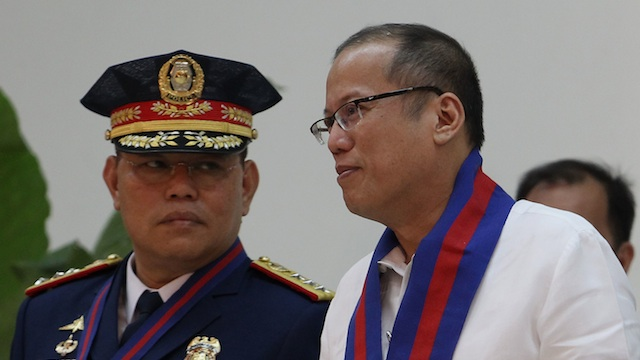 CHRISTMAS BREAK. President Benigno Aquino III (R) converses with newly installed PNP Chief Alan Purisima at Camp Crame in Quezon City on Tuesday, Dec. 18, 2012. Photo by Robert Vias / Malacaang Photo Bureau