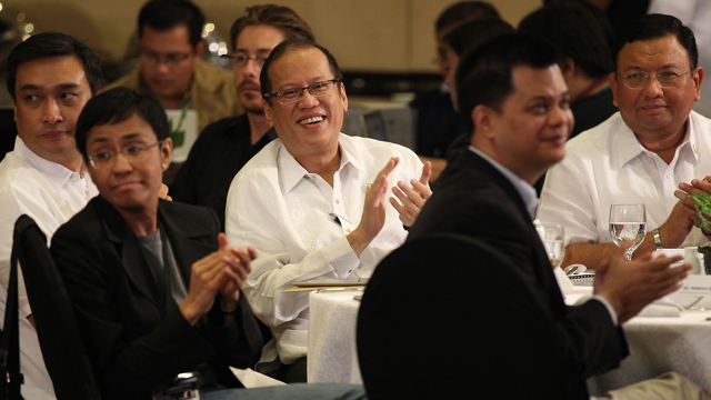 MEDIA ROUNDTABLE. President Aquino becomes the first chief executive to attend the Media Nation summit, even sitting down for a closed-door session with journalists. Photo by Malacañang Photo Bureau
