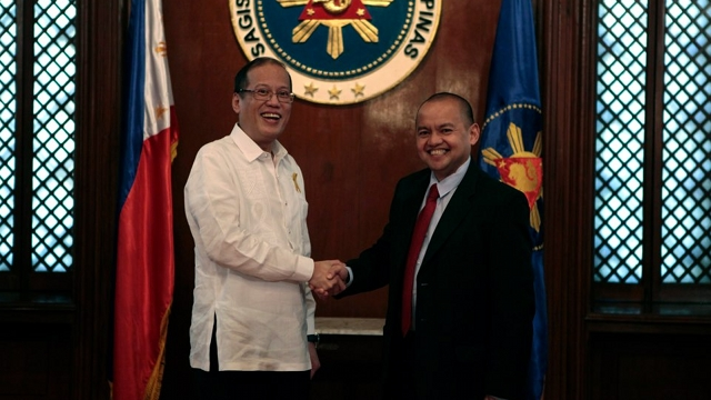 'FRESH IDEAS.' Sen Joker Arroyo says new Supreme Court Associate Justice Marvic Leonen would have to have fresh ideas on speeding up the Ampatuan trial. File photo by Malacañang Photo Bureau