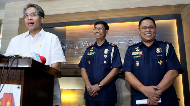 CHANGE OF LEADERSHIP. DILG Secretary Mar Roxas announced Thursday, December 13, that Deputy Director General Alan Purisima will be the new Philippine National Police chief starting December 18. Photo from DILG.