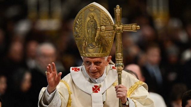 STEPPING DOWN. Pope Benedict XVI will resign from the papacy on February 28, Vatican's spokesman says. File photo from AFP