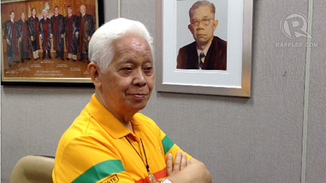 POLL LAWYER. Comelec Chair Sixto Brillantes Jr says he will defend public interest. Photo by Paterno Esmaquel II
