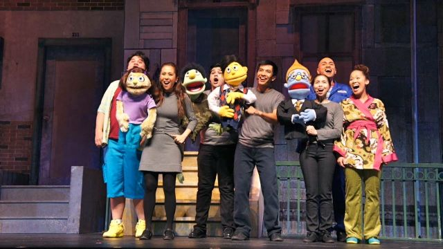 THE OPENING NUMBER OF 'Avenue Q' in Singapore. Photo by Bobby Garcia