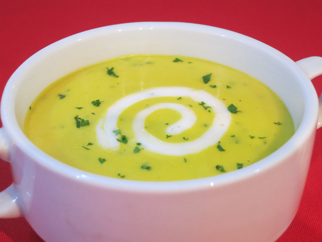 Sweet Potato and Ginger Soup with Cashew Cream