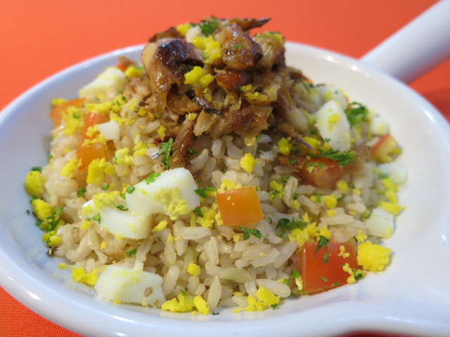 Tinapa and Talbos ng Kamote Rice