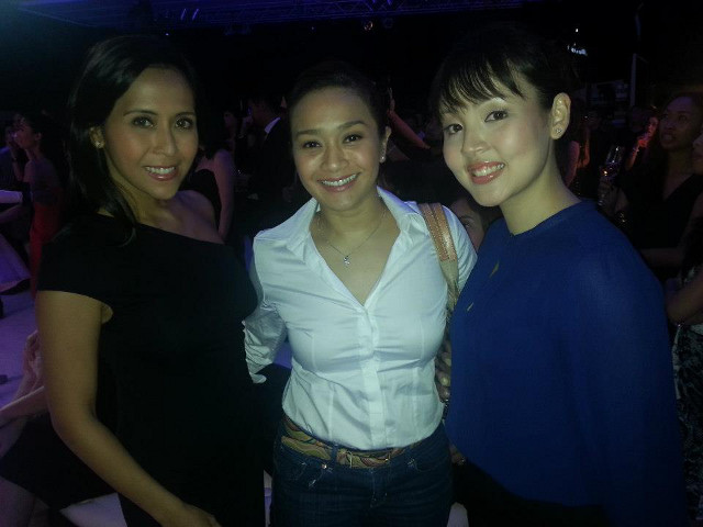 WITH 'KIM' AND 'MARIA.' Rachel with West End star Joanna Ampil, one of the Kims of 'Miss Saigon,' together with theater actress Cris Villonco, who played Maria in Resorts World Manila's 'The Sound of Music.' Photo courtesy of Rachel Alejandro