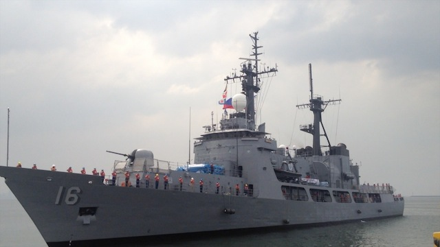 OFF TO AUSTRALIA: BRP Ramon Alcaraz is joining war games in Australia. Rappler file photo