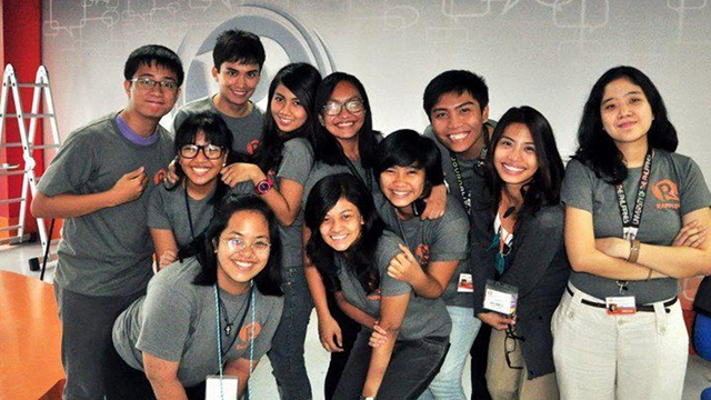 CRAZY BUNCH. Rappler interns work hard and play hard too.