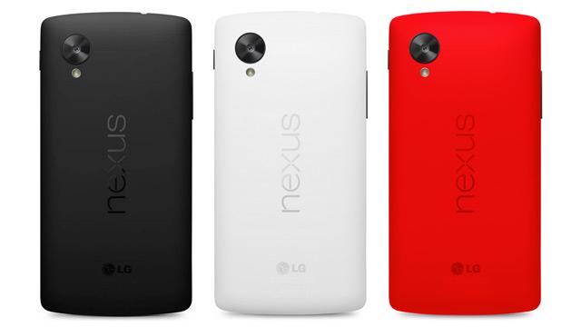 Google Unveils Red Hot Nexus 5