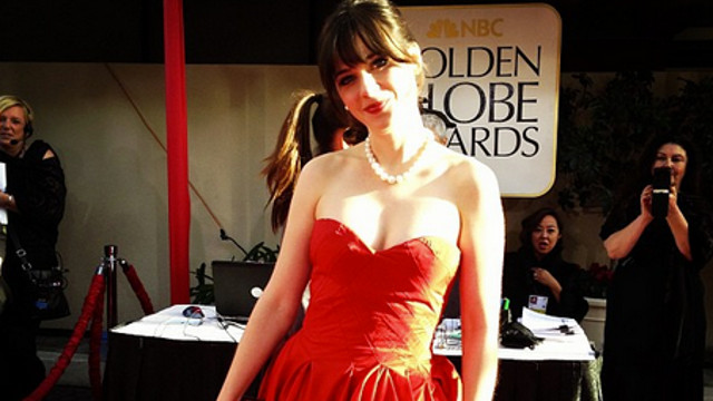 SPRINGTIME FASHION. Red, white, and black are classics that never go out of style, specially in a black tie event such as the Golden Globes. Zooey Deschanel's Instagram photo posted by goldenglobes