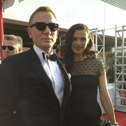 Rachel Weisz (right) with husband Daniel Craig