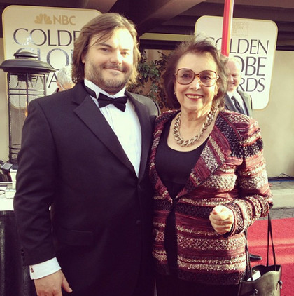 Jack Black (left) with mom Judith