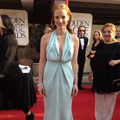 Jessica Chastain, 'Zero Dark Thirty,' in seafoam blue