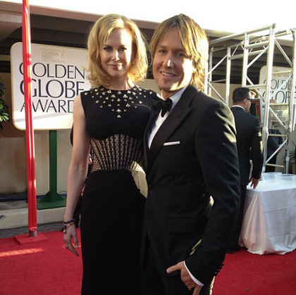 Nicole Kidman (left) with husband Keith Urban