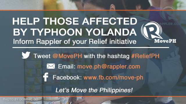 ReliefPH: Victims of Typhoon Yolanda (Haiyan) need your help