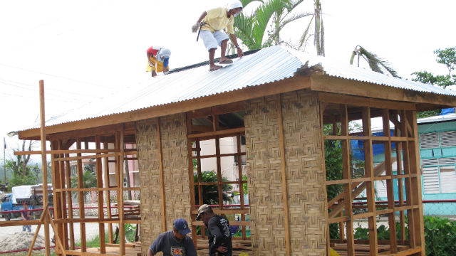 SHELTER BGA.  One of the model shelter houses built in Baganga, Davao Oriental. Photo from ICRC