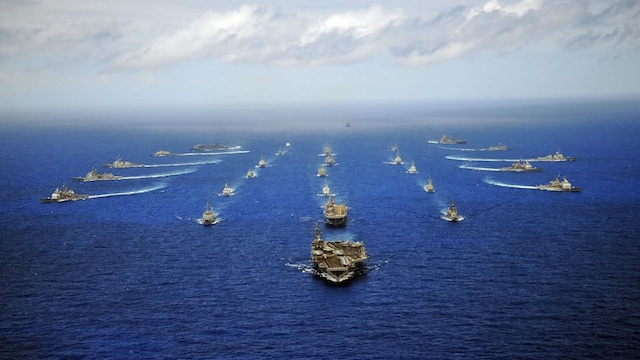 US, CHINA IN JOINT NAVY DRILL. The combined maritime component from RIMPAC 2010. Photo courtesy of RIMPAC official Facebook page