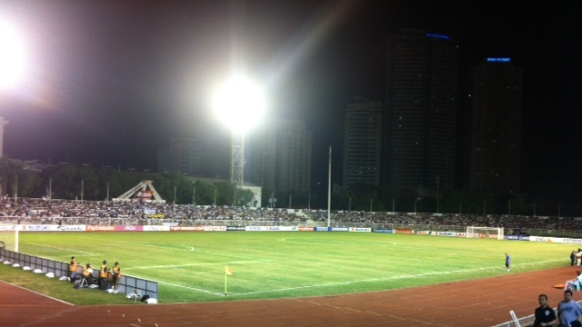 LEAVING RIZAL? The Azkals may soon leave Rizal Memorial Stadium for a new home if FIFA approves a proposal by the Philippine Football Federation to build a turf pitch in Sta. Rosa, Laguna. Photo by Natashya Gutierrez.