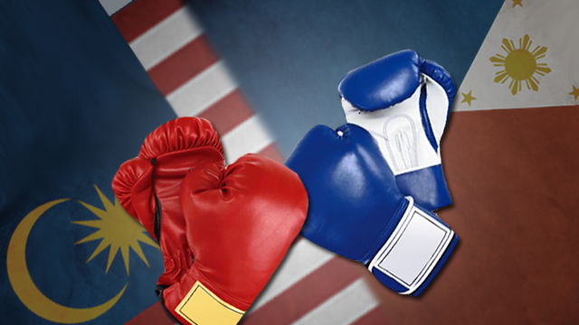 MALAYSIA-PH CONFLICT. The conflict in Sabah is spilling over into youth sports like boxing. Graphic by Bobert Elyas