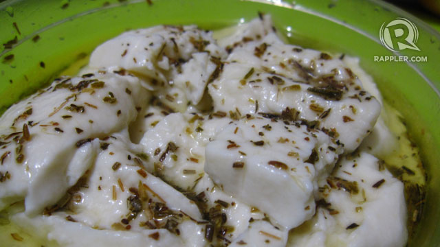 Herb-infused kesong puti