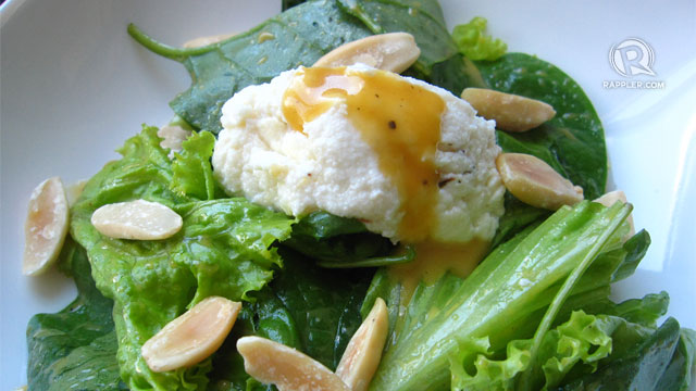 Ta-da! Your yummy and healthy kesong puti salad with passion-ette