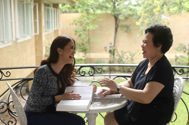 UNEXPECTED FRIENDSHIP? WHY NOT? Actress Heart Evangelista and Senator Miriam Defensor Santiago. All photos from Sara Black's book, 'We, Love'