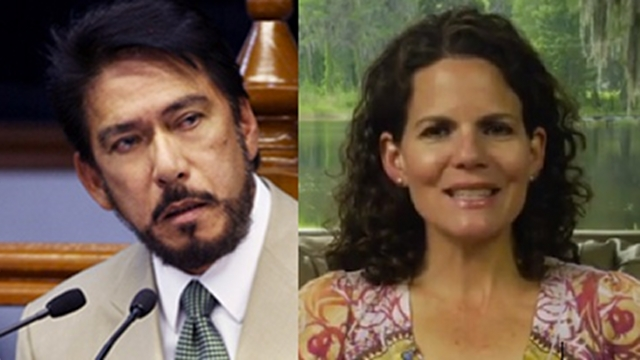 'NO LIABILITY.' Senator Vicente Sotto III's chief of staff says his boss has no liability for copying passages from US blogger Sarah Pope (right) because it was his staff who did it. File photos from Senate website and Pope's blog
