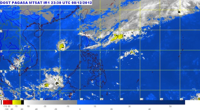 MTSAT ENHANCED-IR Satellite Image 6:30 a.m., 09 December 2012