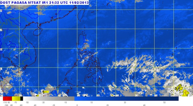 MTSAT ENHANCED-IR Satellite Image 5:32 a.m., 12 February 2013. Image courtesy of PAGASA.