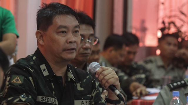 BAGANI FORCE EXISTS but the military does not know much about it, according to AFP 6th Division Assistant Commander Brig. Gen. Cesar Dionisio Sedillo. Photo by Karlos Manlupig