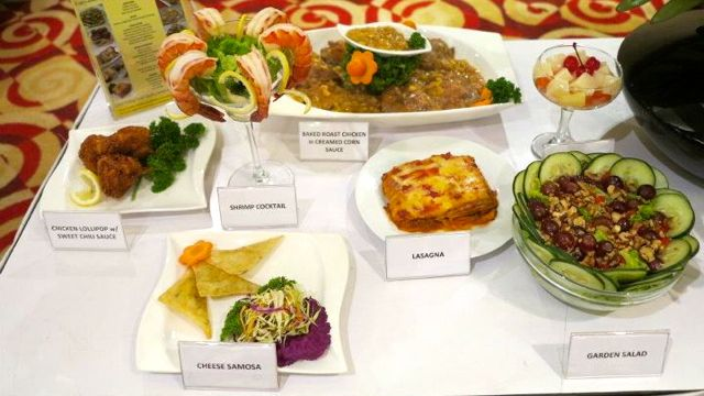 YUMMY-LOOKING FOOD DISPLAY